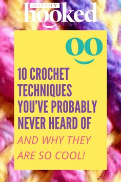 If you've never tried a new crochet technique, you owe it to yourself to check these out. Not only are many of these beautiful, but you'll gain a new appreciation for ways to use alternative tools and materials. Enjoy! Slip Stitch Crochet, Crochet Quilt, Easy Crochet, Knit Or Crochet, Crochet Things, Free Crochet, Chunky Crochet, Tunisian Crochet, Learn To Crochet