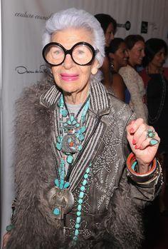 Queen Iris Apfel. Iris has taken on Diana Vreeland's mantle as coolest senior style icon.