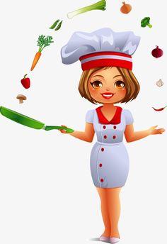 Cartoon chef PNG and Vector Cartoon Chef, Food Cartoon, Painting Kitchen Cabinets, Kitchen Cabinet Design, Pinturas Art Deco, Chef Logo, Kitchen Logo, Cabinet Makeover, Le Chef