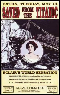 """Dorothy Gibson. A Titanic survivor and """"daughter of Hoboken,"""" she played herself in the first film made about the mid-ocean tragedy."""