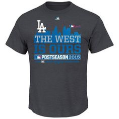 Los Angeles Dodgers Youth Majestic 2015 NL West Division Champions The West is Ours T-Shirt - Charcoal - $16.99