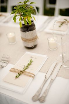 wedding table settings without plates - Google Search