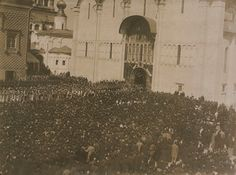 The Coronation Procession of Nicholas II, Emperor of Russia entering the Assumption Cathedral Emperor, Paris Skyline, Cathedral, Russia, Travel, Viajes, Cathedrals, Destinations, Traveling