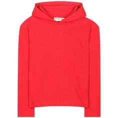 Balenciaga Cropped Cotton Hoodie ($550) ❤ liked on Polyvore featuring tops, hoodies, sweaters, sweatshirts, red, red hoodie, sweatshirt hoodies, red top, cropped hoodie and cut-out crop tops