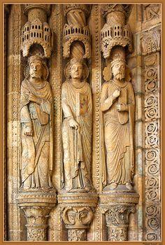 Les prophètes.Cathédrale de Bourges. Centre