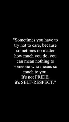 Realize your self worth.
