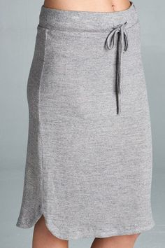 Grey Mid Length Skirt