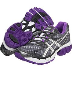 ASICS running shoes. love the purple