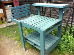 Pallet Garden Bench | Made from pallets , pallet bench , pallet gardening , potting bench
