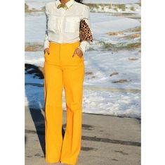 Black Girls Killing It: such a sexy outfit, yellow pants, white shirt + leopard print clutch Work Fashion, Fashion Looks, Fashion Outfits, Womens Fashion, Dress Fashion, Fashion Spree, Latest Fashion, Traje Casual, Professional Attire