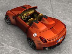 Deltoister Uprear View by deltoiddesign on DeviantArt Concept Cars, Deviantart