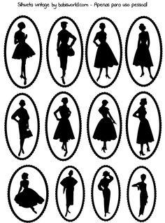 Силуэты девушек и детей.   Творческая мастерская Марины Трублиной