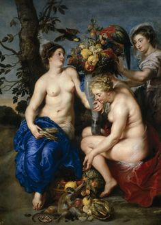 The Athenaeum - Ceres with Two Nymphs (Peter Paul Rubens - )