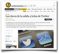 La salida a bolsa de Twitter, en La Información