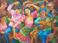 Max Adlao - Carinosa Painting Filipino Art, Filipino Culture, Philippine Art, Philippines Culture, Dance Paintings, New Artists, Paint Designs, Creative Art, Contemporary Art