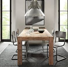 Mesas de madera maciza para el comedor