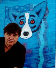 George Rodrigue and his Blue Dog!