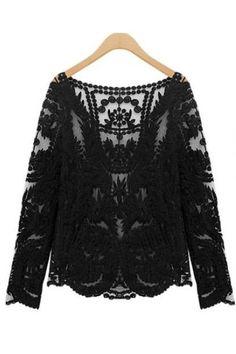 Cream Crochet Tunic