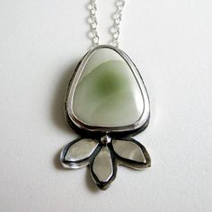 Imperial Jasper and Sterling Silver Necklace  by NinaGibsonDesigns