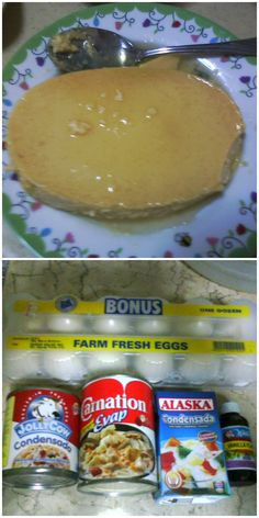 It is best to ready the ingredients before making the leche flan version.