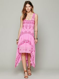 Free People FP New Romantics Cassiopeia Embroidered Dress at Free People Clothing Boutique