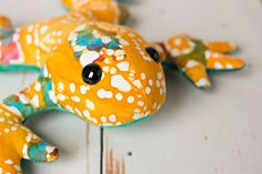 Frog stuffed toy plush animal nursery decor by TheNotableKnot, $22.00