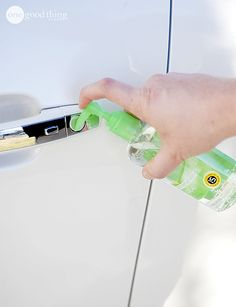 Winter-Car-Hacks-11 Rubbing your key or door handle with a squirt of hand sanitizer will melt the ice and shortly allow you to unlock your car.