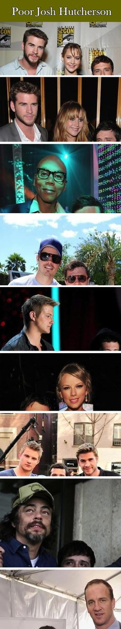 Funny Hunger Games:Josh Hutcherson with Other Celebrities.