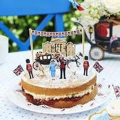 Diamond Jubilee Party sponge cake