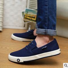 HOT SELL!!Free Shipping New Men's Sneakers Casual lace-up Shoes Men Flats British canvas boat Shoes Flats A00236 $38.70