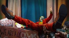 Joker, We Are All Clowns, Joaquin Phoenix, Wallpaper Joker Film, Joker Comic, Batman Joker Wallpaper, Joker Wallpapers, Iphone Wallpaper Movie, Joker Background, Dark Knight Wallpaper, Joker Painting, Joker Mask