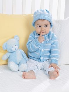 Buy Yarn Online and Find Crochet and Knitting Supplies and Patterns Layette Pattern, Baby Cardigan Knitting Pattern, Baby Knitting Patterns, Knitting Designs, Baby Patterns, Crochet Patterns, Knitting For Kids, Crochet For Kids, Knitting Yarn