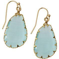 Panacea Organic Stone Drop Earrings ($21) ❤ liked on Polyvore featuring jewelry, earrings, aqua, stone jewellery, polish jewelry, drop earrings, bezel jewelry and aqua earrings