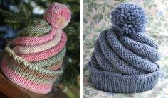 Fun Swirled Knitted Ski Cap [FREE Knitting Pattern]