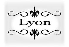New to westlondonlaser on Etsy: Lyon Vinyl Wall decal sticker  wall art indoor outdoor glass sticker (5.99 GBP)