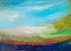 impressionistic art painting, #landscape #sky