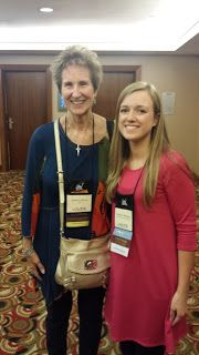Seekerville's Roving Reporters Bring Home the Scoop from ACFW 2015 with guests Natalie Monk and Courtney Ballinger. Photo of Francine Rivers and Courtney.