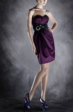 Sweetheart Sheath Short Sleeveless Ruffles Cocktail Dresses - OuterInner.com