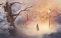 Wallpaper art, girl, light, winter, narnia, narnia