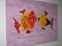 """Acrylmalerei - """"UNZERTRENNLICH"""" - ein Designerstück von n8kunst-z-wergk bei DaWanda"""