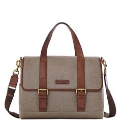 Dooney & Bourke | Canvas Hunter Messenger | Pairing timeless styling with modern functionality, this messenger is big enough for all your workday essentials, but streamlined enough to make the perfect style statement.