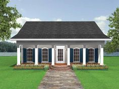 Cottage House Plan with 1097 Square Feet and 2 Bedrooms from Dream Home Source | House Plan Code DHSW38694