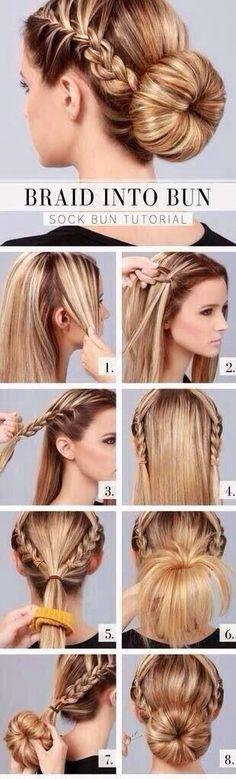 easy braided bun