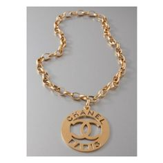 CHANEL Vintage 18k yellow gold plated Oversized CC by HauteDecades, $2000.00