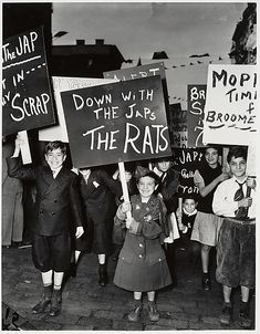 Anti-Japanese demonstration. How racist is this??? And yes, this is our America during the 1940s.