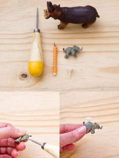 DIY party animal candle holder