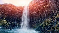 639 Hz Music with Waterfall Sounds || Soothe your Heart, Mind & Body || ...
