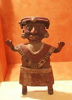 Images from the National Museum of Anthropology-- 	 Small sculptures from Xochicalco toltecs