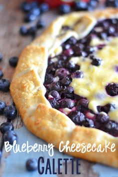 This blueberry cheesecake galette is super simple, yet elegant - a perfect recipe for even a novice chef! #recipe #blueberries #pie