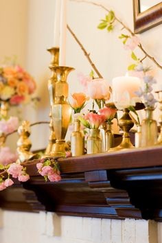 gilded vessels and candlesticks